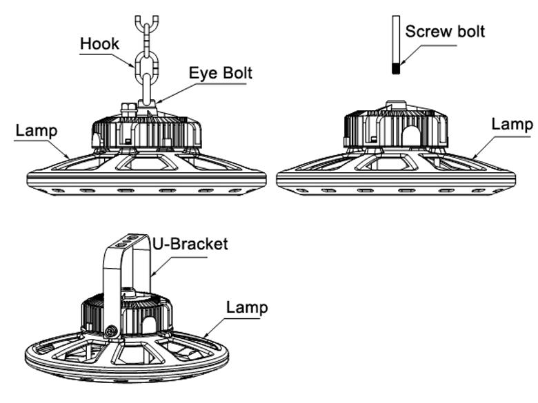 Installation of UFO LED High Bay Light